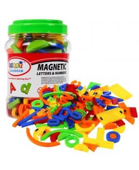 Magnetické písmenká a čísla, 128 kusov